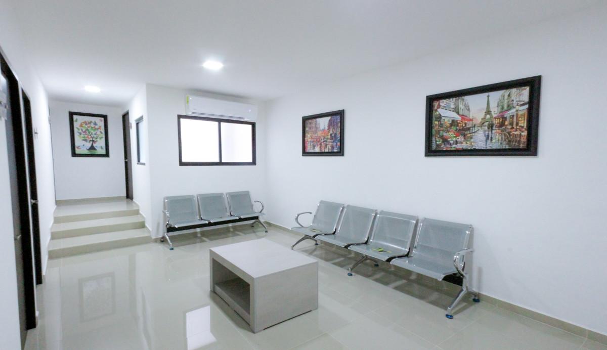 Sala de espera en el hospital Quirúrgica del Sur